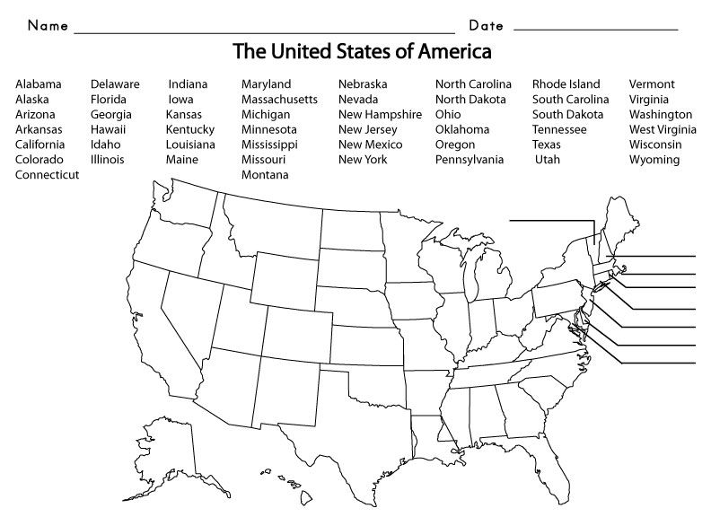 5th grade united states map 5th Grade Spelling Words | Map worksheets, 5th grade worksheets