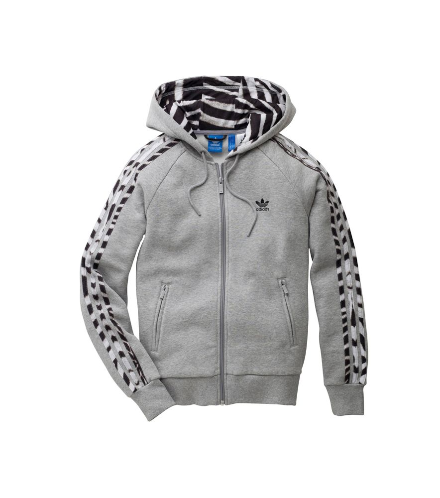 chaqueta adidas gris mujer