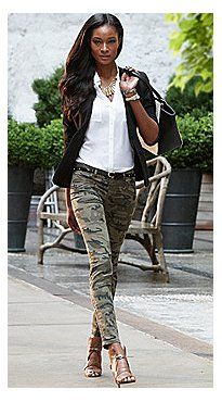Chino Legging - Jacket, Blouse & Camouflage Legging