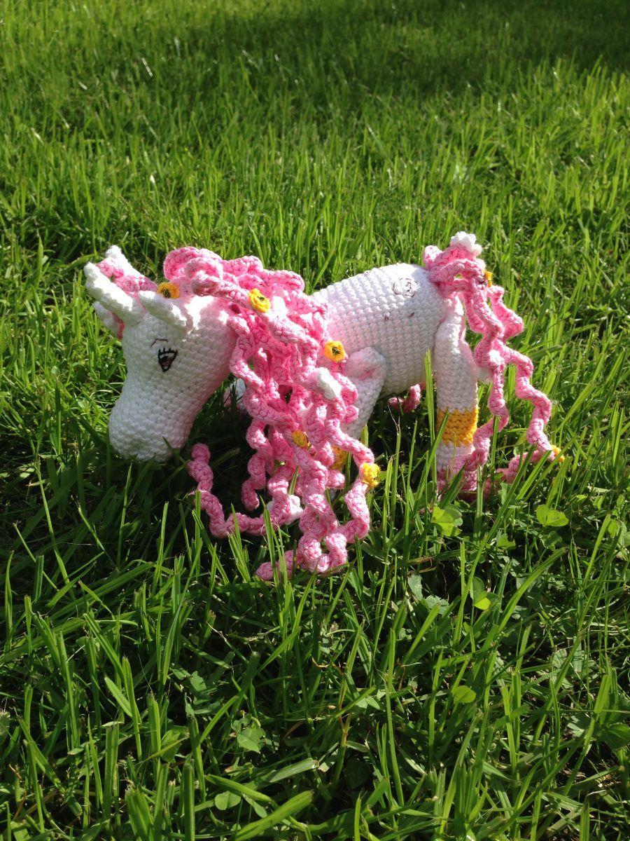 Elli Einhorn Ca 25 Cm Groß Kostenlose Häkel Anleitung Crochet