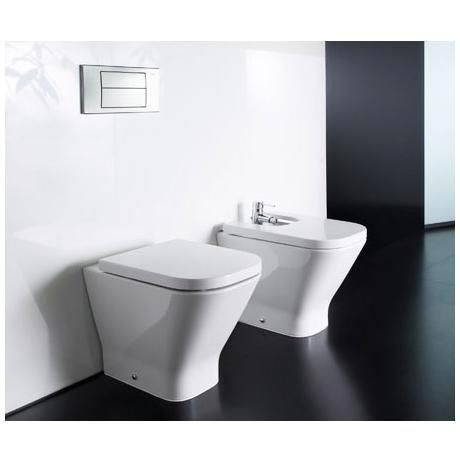 Roca The Gap Modern Back To Wall Wc Pan With Soft Close Seat At Victorian Plumbing Uk Back To Wall Toilets Wall Hung Toilet Toilet