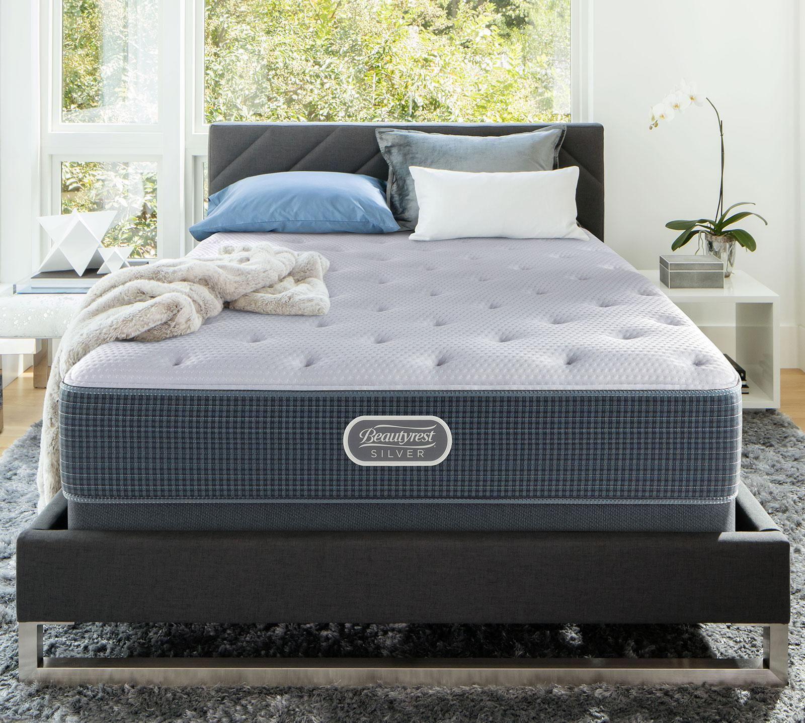 Beautyrest California King Silver Offshore Mist 12 25 Inch Luxury