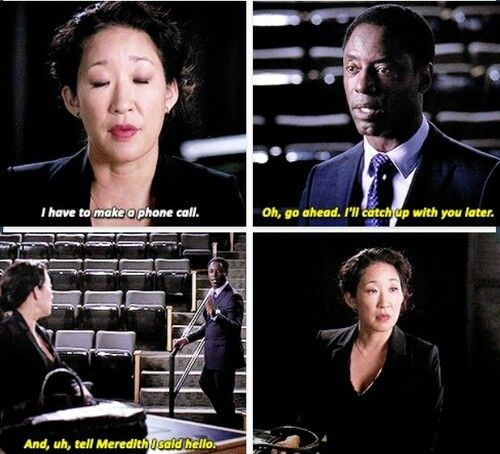 Burke knowing Cristina will call Meredith. | Grey\'s Anatomy ...