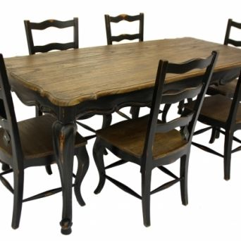 Black French Dining Chairs Winda  Furniture - French country dining table