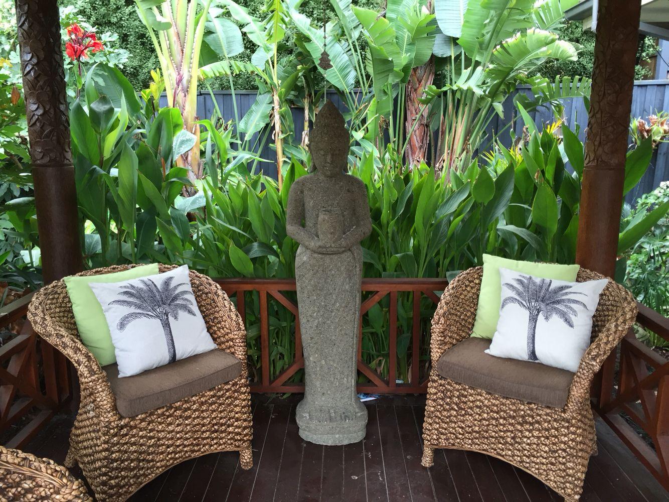 Buddha Melisa Dixon\'s Bali garden in Melbourne. | Bali Style Home ...