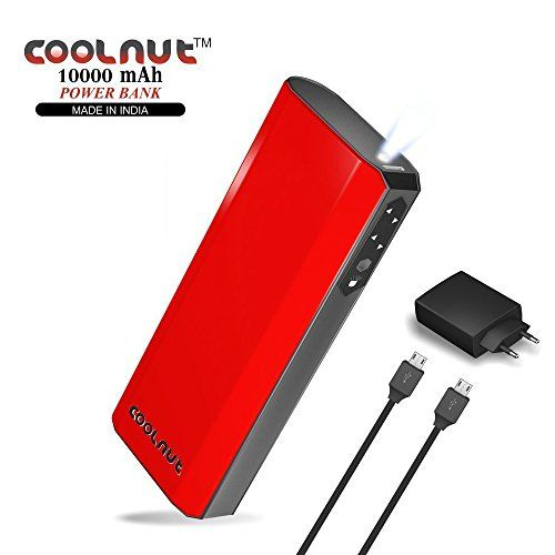 COOLNUT 10000mAh Power Bank, USB Micro Cable with Adapter