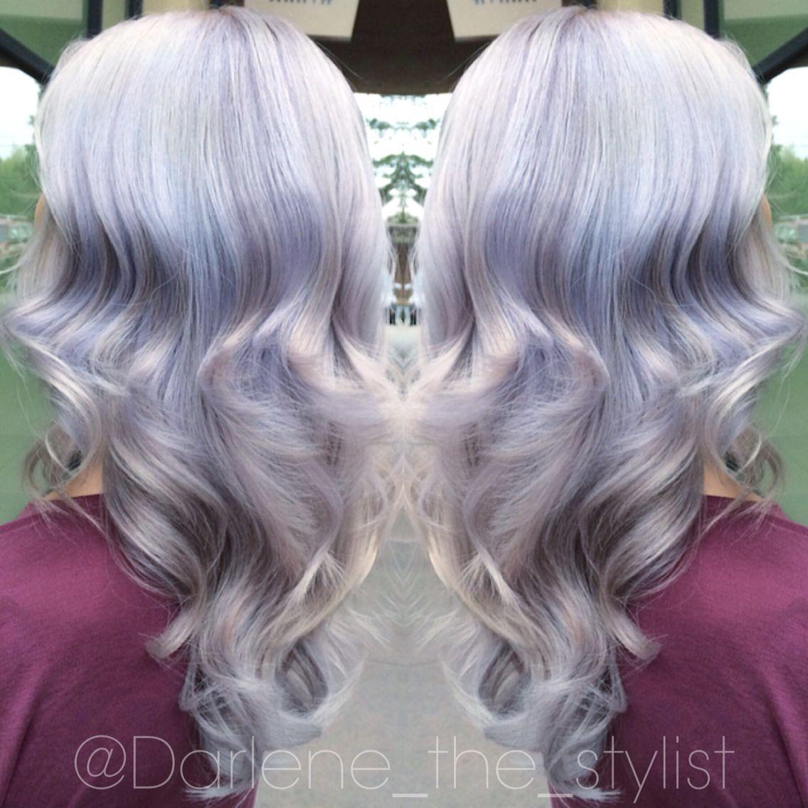 Silver Lavender Blonde Hair With A Hint Of Blue Hair Ideas Hair