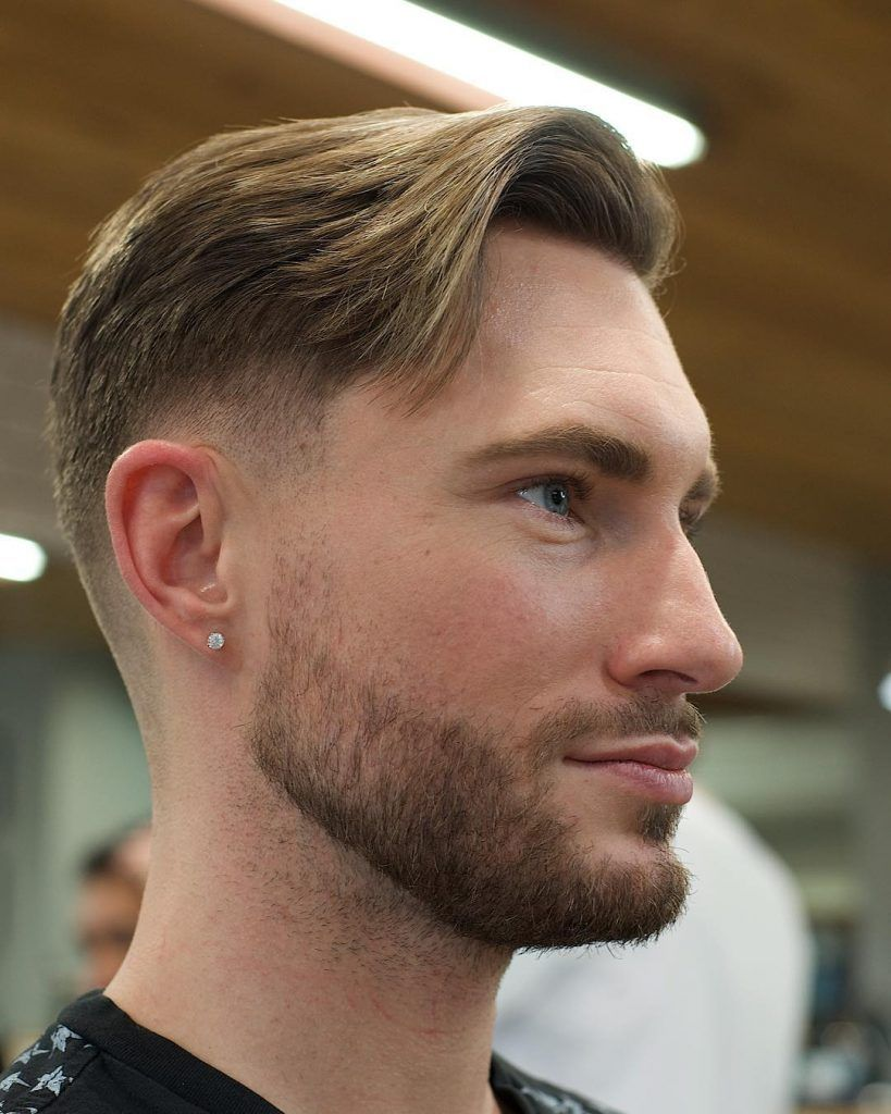 Mens haircut short on sides  trendiest layered haircuts for men  fade haircuts  pinterest