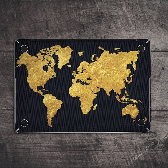 Macbook skin map macbook skin world map macbook skin gold macbook black decal gold map golden map decal macbook skin map macbook skin world gumiabroncs Gallery