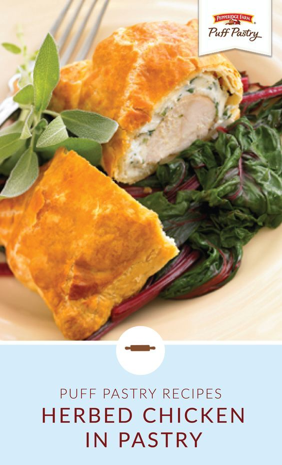 Herbed Chicken in Pastry - Puff Pastry