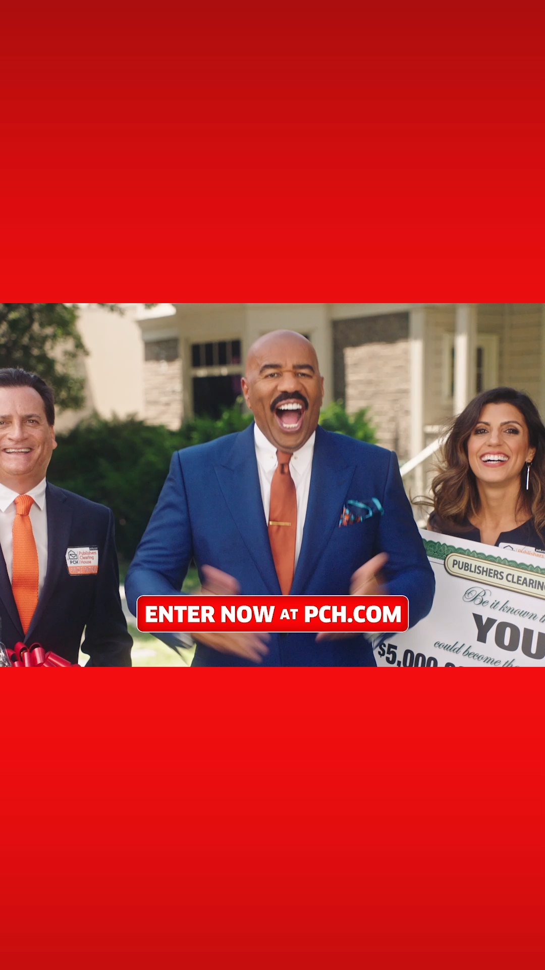 Steve Harvey and The Prize Patrol have an amazing