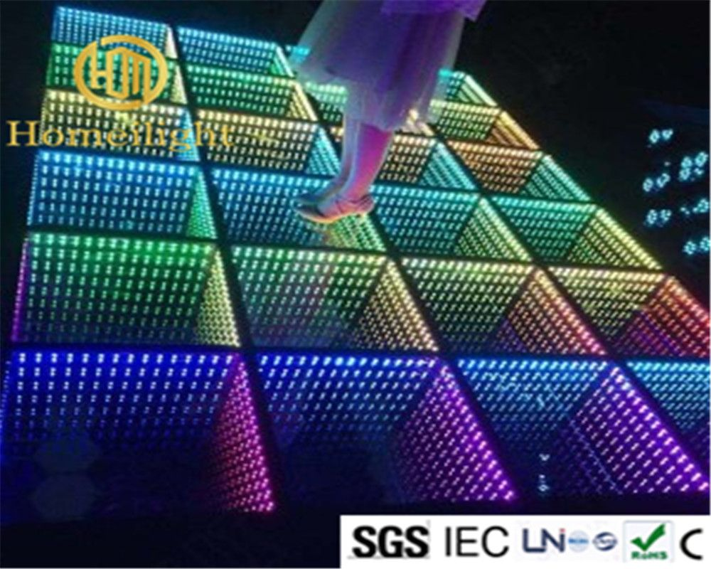 8pcs RGB Full Color Control Led Stage Light Infinity Mirror 3D Led Dance  Floor(China