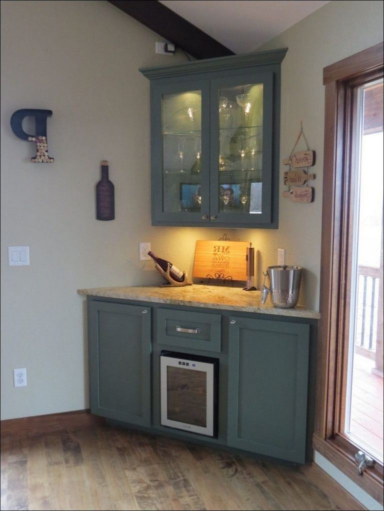 45 Amazing Corner Bar Cabinet Ideas For Coffee And Wine Places In