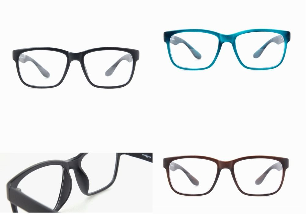 TR90 Square Frame Glasses Women Men Vintage Eyeglasses Full Rim ...