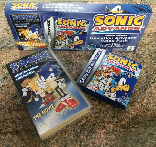Sonichedgeblog A Limited Edition Version Of Sonic Advance Released Only In Australia Which Came With A Vhs Copy Of Soni Sonic Sonic The Hedgehog Pop Tarts