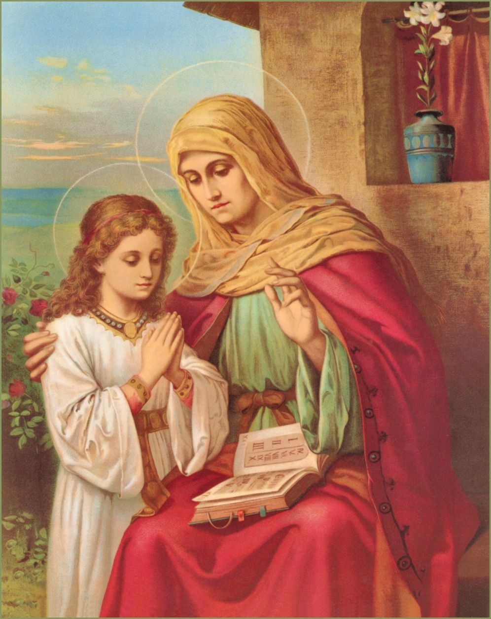 St. Anne, mother of the Blessed Virgin Mary. Her titles and symbols ...