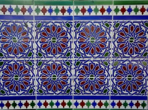 Azulejo do encosto dos bancos do patio andaluz parque - Azulejos patio andaluz ...