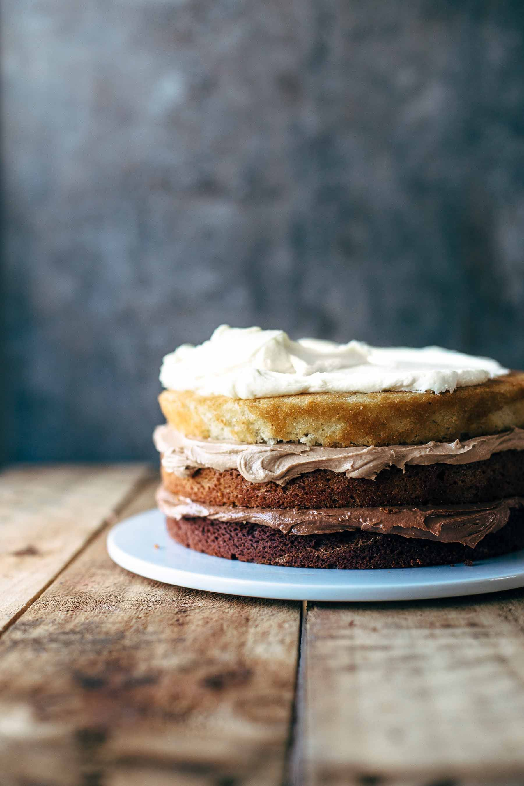 Triple Chocolate Ombre Cake Recipe By Also The Crumbs Please Learn