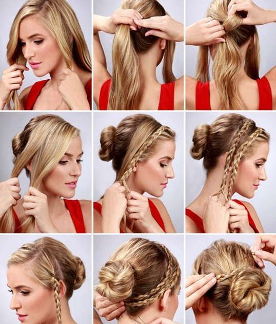 Pin by hair loss shampoo arganrain on hair styles which you can cant decide between a braid and a bun heres a fantastic idea from lulus its a braid wrapped bun hairstyle th pmusecretfo Gallery