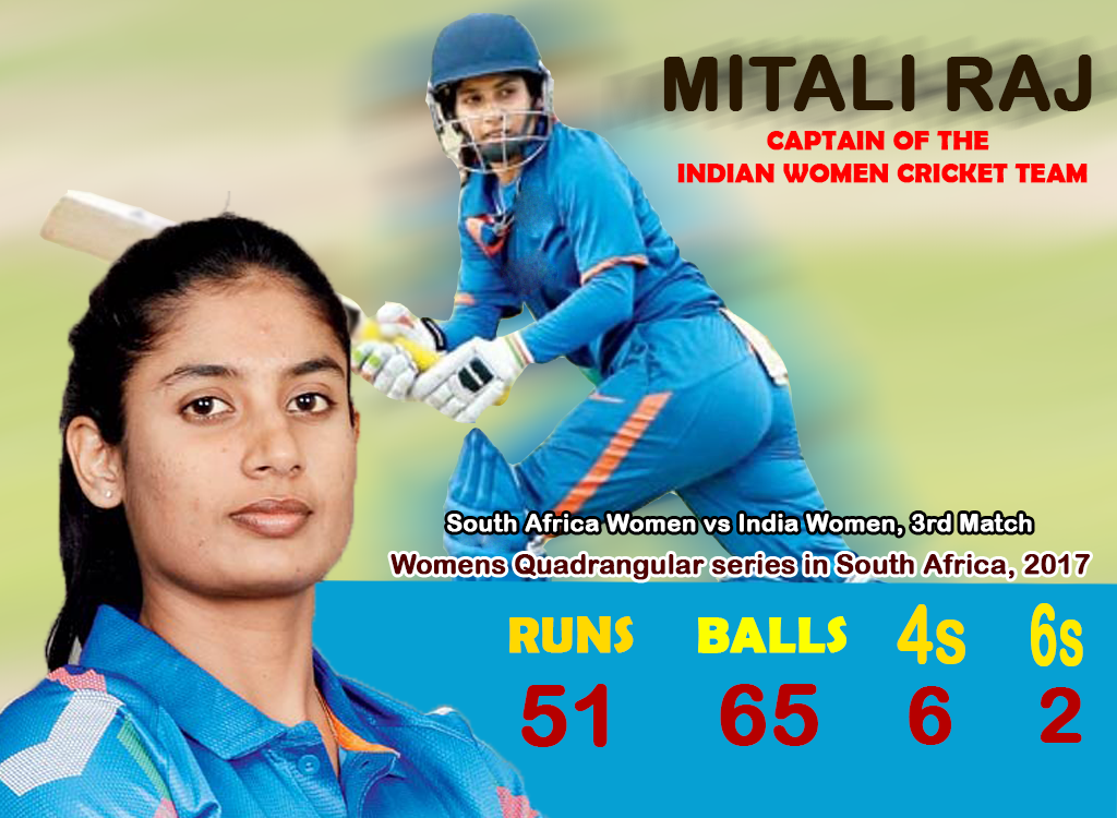 Mithali Dorai Raj Is Captain Of The Indian Womens Cricket Team In