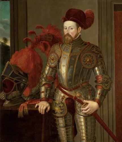 Archduke Ferdinand II (1529-1595), elbow armor in Eagle   Francesco Terzio   in 1550