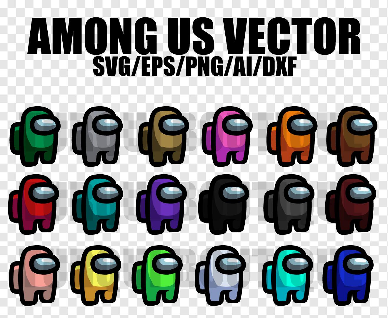Among Us Vector SVG/DXF/AI, Among Us Print TShirt, Vector