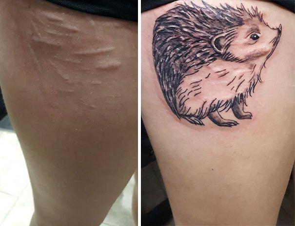 29 Tatouages Qui Transforment Des Cicatrices En Oeuvres D Art Le