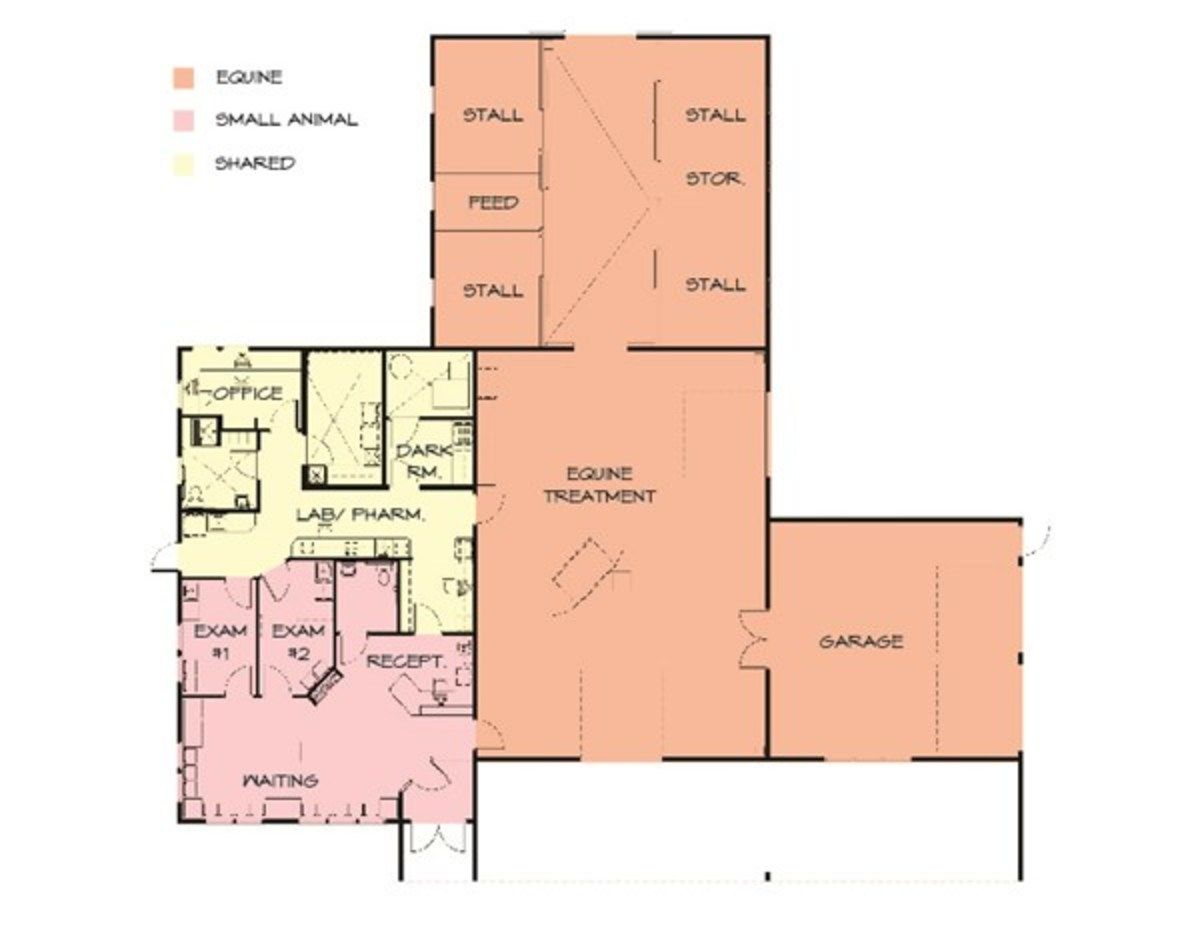 Credit Courtesy Animal Arts In The Floor Plan Above A Central Circulation Spine Organizes The Shared Functi Hospital Floor Plan Floor Plans Floor Plan Design
