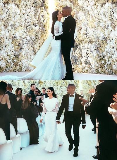 Kim Kardashian And Kanye West Wedding Kim Kardashian Wedding Dress Kim Kardashian Wedding Kanye West Wedding