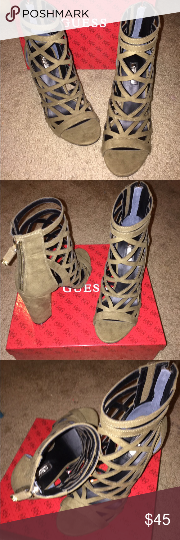 edad70c0ab50 Guess Eriel Caged Bootie Beautiful Caged Bootie by Guess