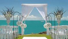standing by the ocean- beach wedding
