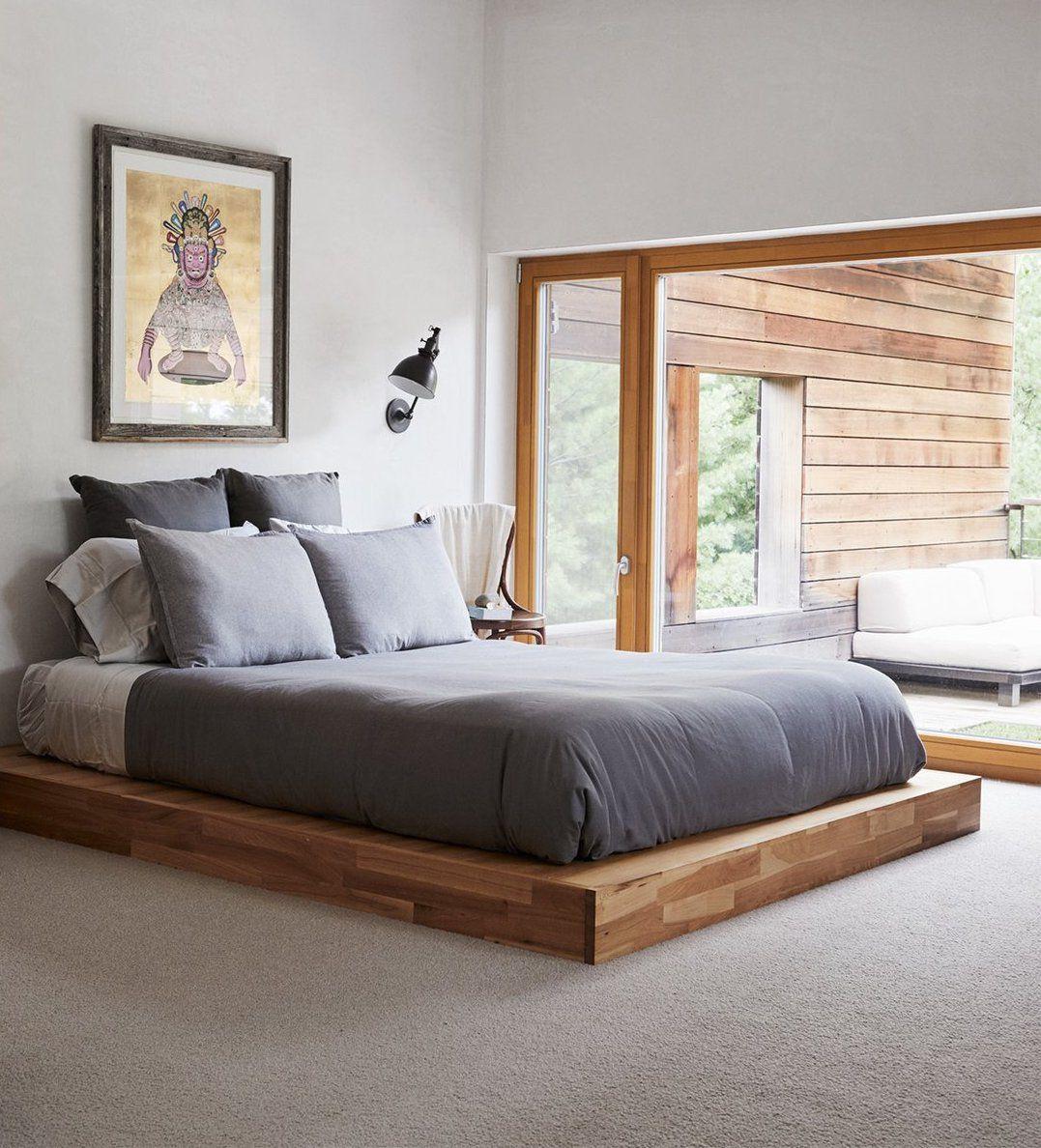 Floor Bed Frame Low Platform Bed In 2021 Bed Furniture Design Luxury Bedroom Master Small Bedroom Inspiration
