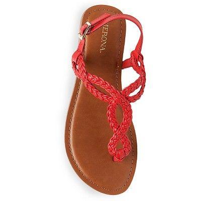 7ad9fc9c5238 Women s Jana Quarter Strap Sandals Merona - Red 10
