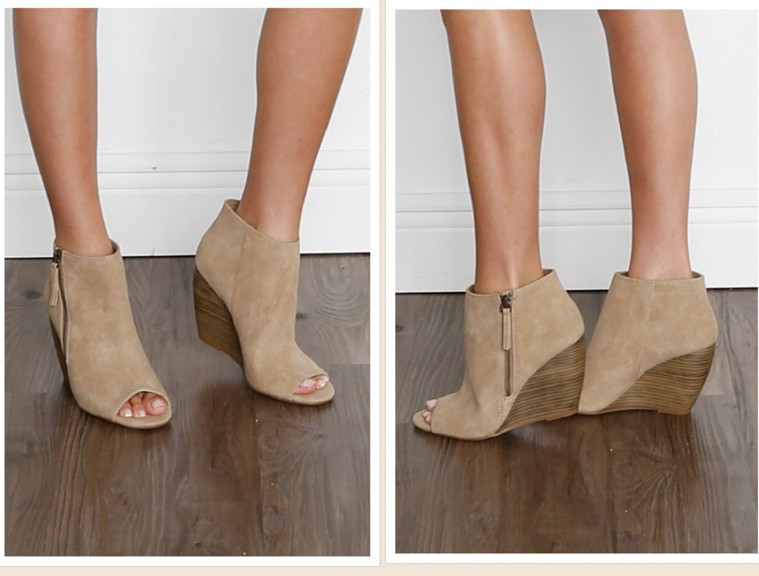 0cffb7960a9 BC FOOTWEAR Rebellion II Peep Toe Wedge Bootie from Stitch Fix. https
