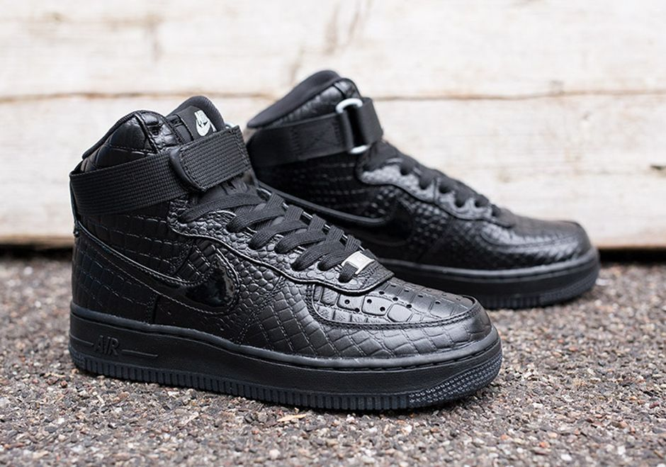nike women's air force 1 high black croc nz