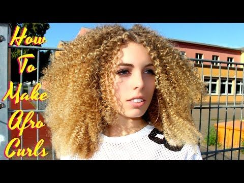 Straight To Curly How To Make Super Tight Small Spiral Afro Curls With Straight Hair Straw Set You How To Curl Your Hair Super Curly Hair Straight Hairstyles