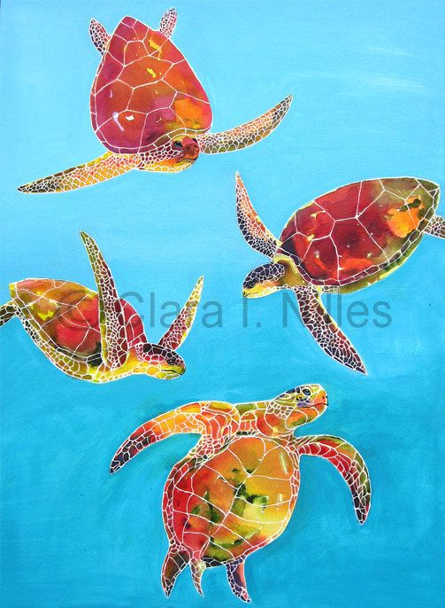 Watercolor Sea Turtle Wall Art Sea Turtle Art Turtle Art