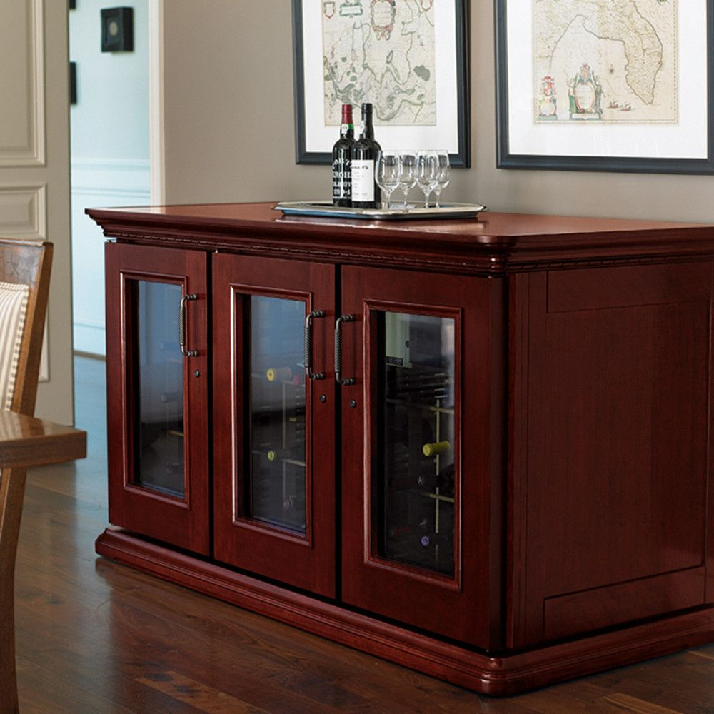 Purchase Our Le Cache Wine Cabinet Euro Credenza Clic Cherry Only At Iwa Accessories