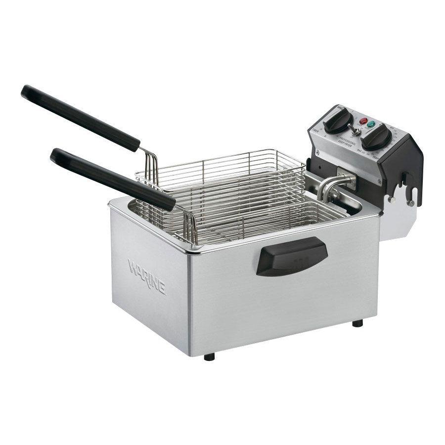 Waring Wdf75b 8 5 Lb Commercial Countertop Deep Fryer 208v Electric Deep Fryer Commercial Deep Fryer Deep Fryer