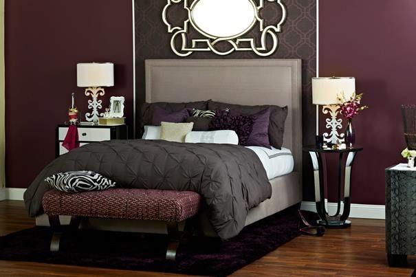 Grey And Plum Bedroom Ideas Love This Purple Gray Zebra Bedroom That Homegoods Shared On Facebook Burgundy Bedroom Home Bedroom Home