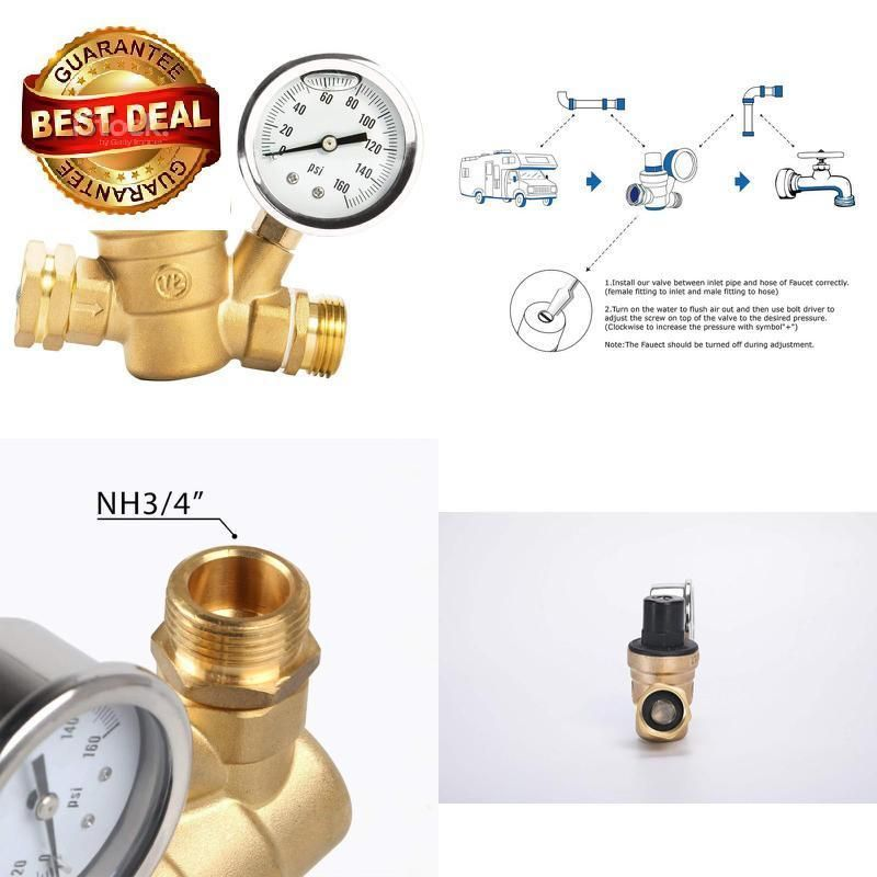 Esright Brass Water Pressure Regulator LeadFree With