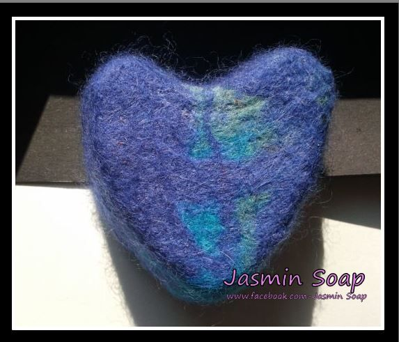 www.facebook.com/JasminSoap, viltzeep, felted soap