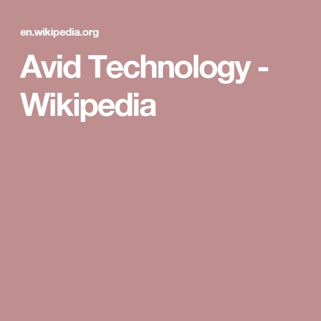 Avid Technology - Wikipedia