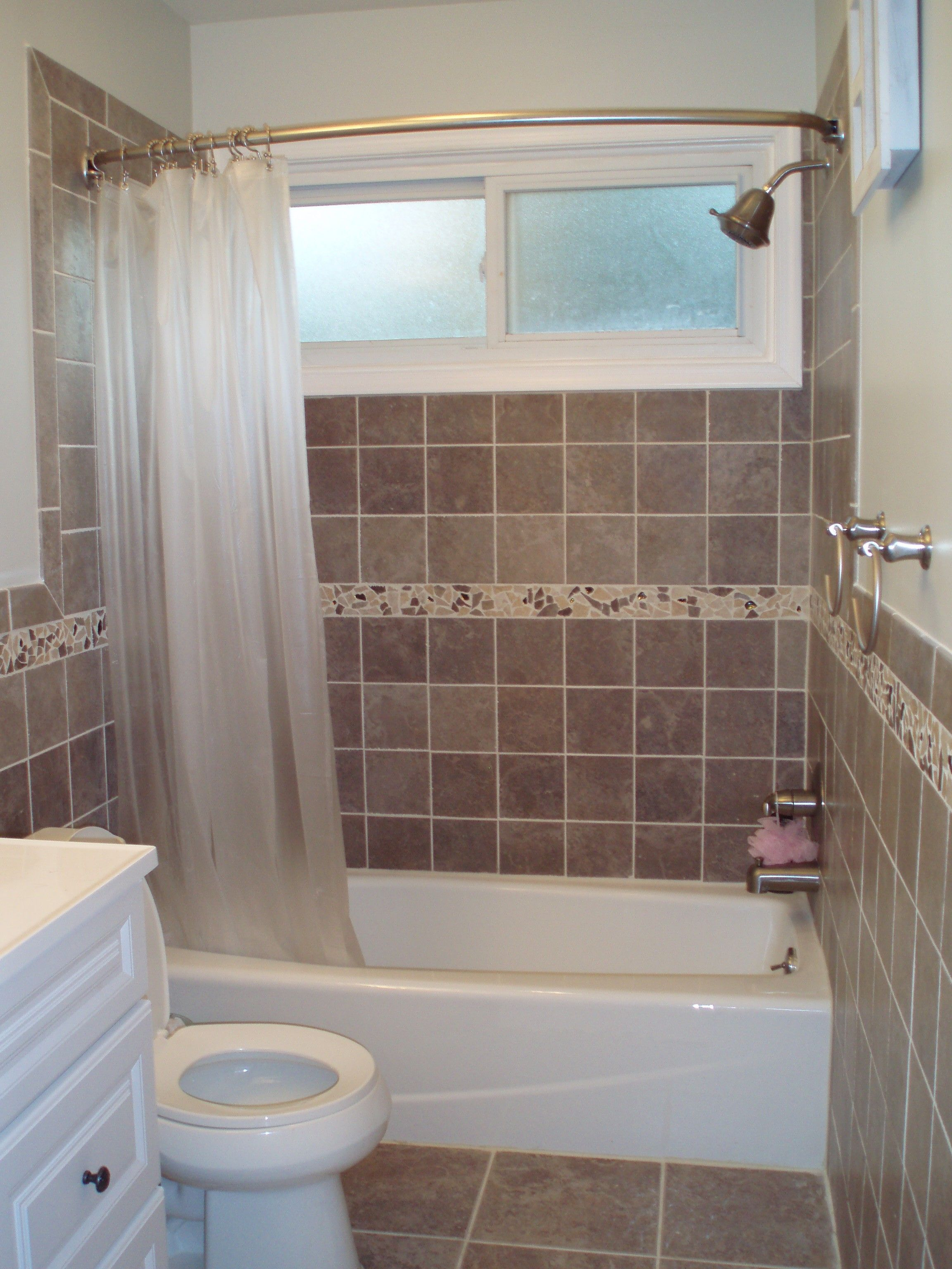 Small Bathroom Ideas With Tub And Shower showers with bullnose around window - google search | bathroom
