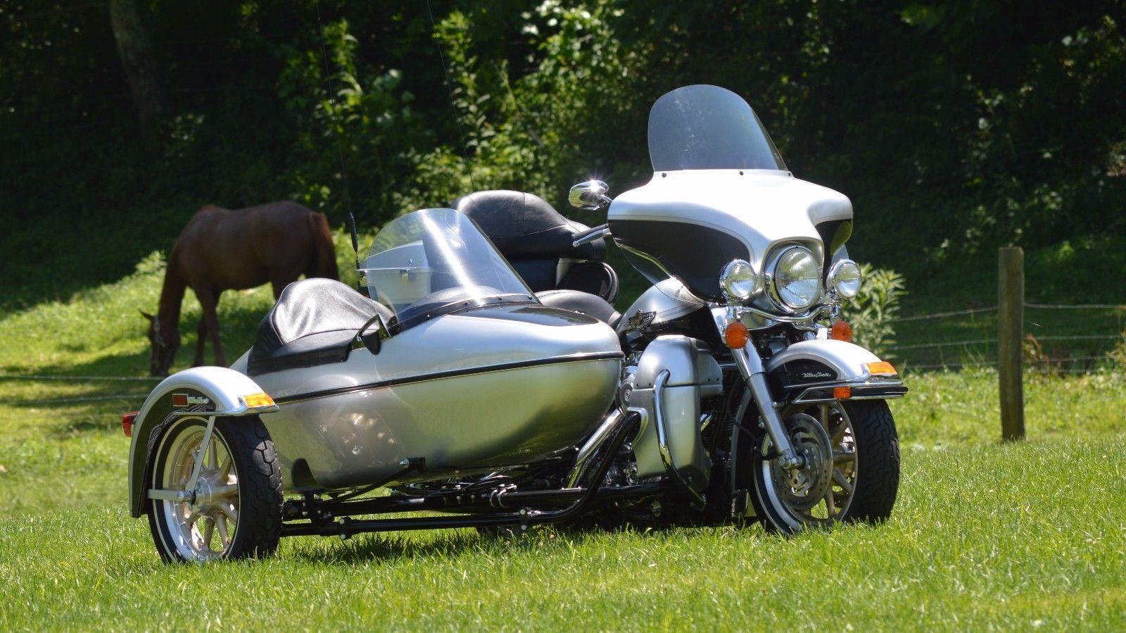 eBay: 2003 Harley-Davidson Touring 2003 Harley Davidson Ultra Classic w/ Sidecar just 27mi!! #harleydavidson