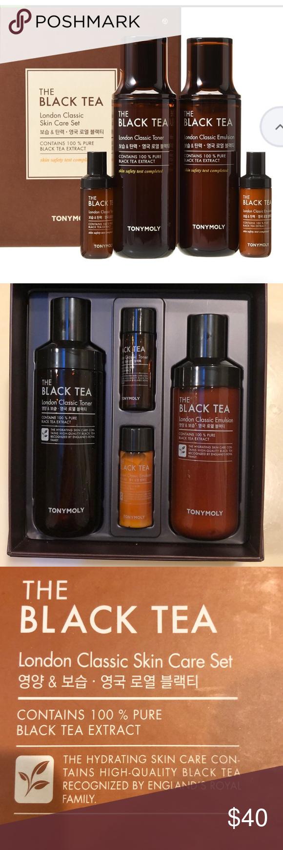 Tony Moly London Classic Skin Care Set Black Tea Skincare Set Skin Care Black Tea