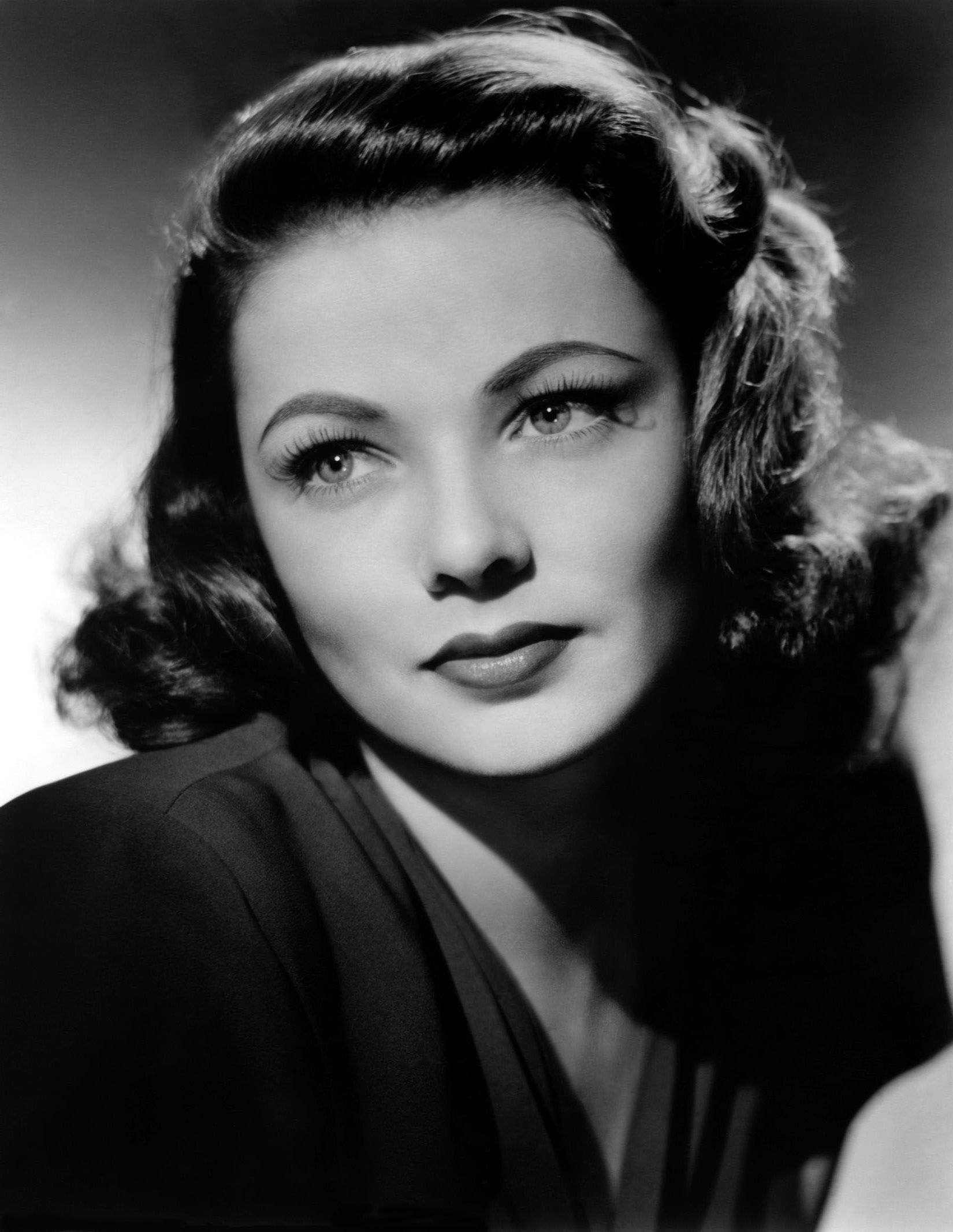 actrice am ricaine charmante gene tierney noir et blanc belles pinterest acteurs. Black Bedroom Furniture Sets. Home Design Ideas