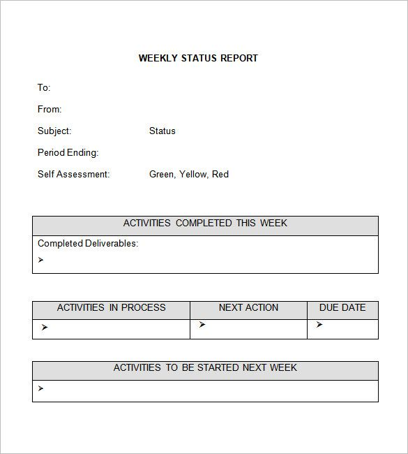 Weekly Status Report Template Free Word Documents Download Format Project Health Card For The Free Word Document Project Status Report Progress Report Template