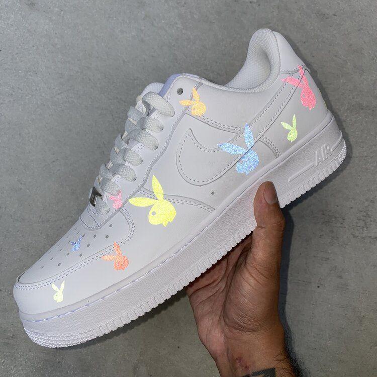 Nike Air Force 1 – Neon Rainbow Custom (Glow In The Dark