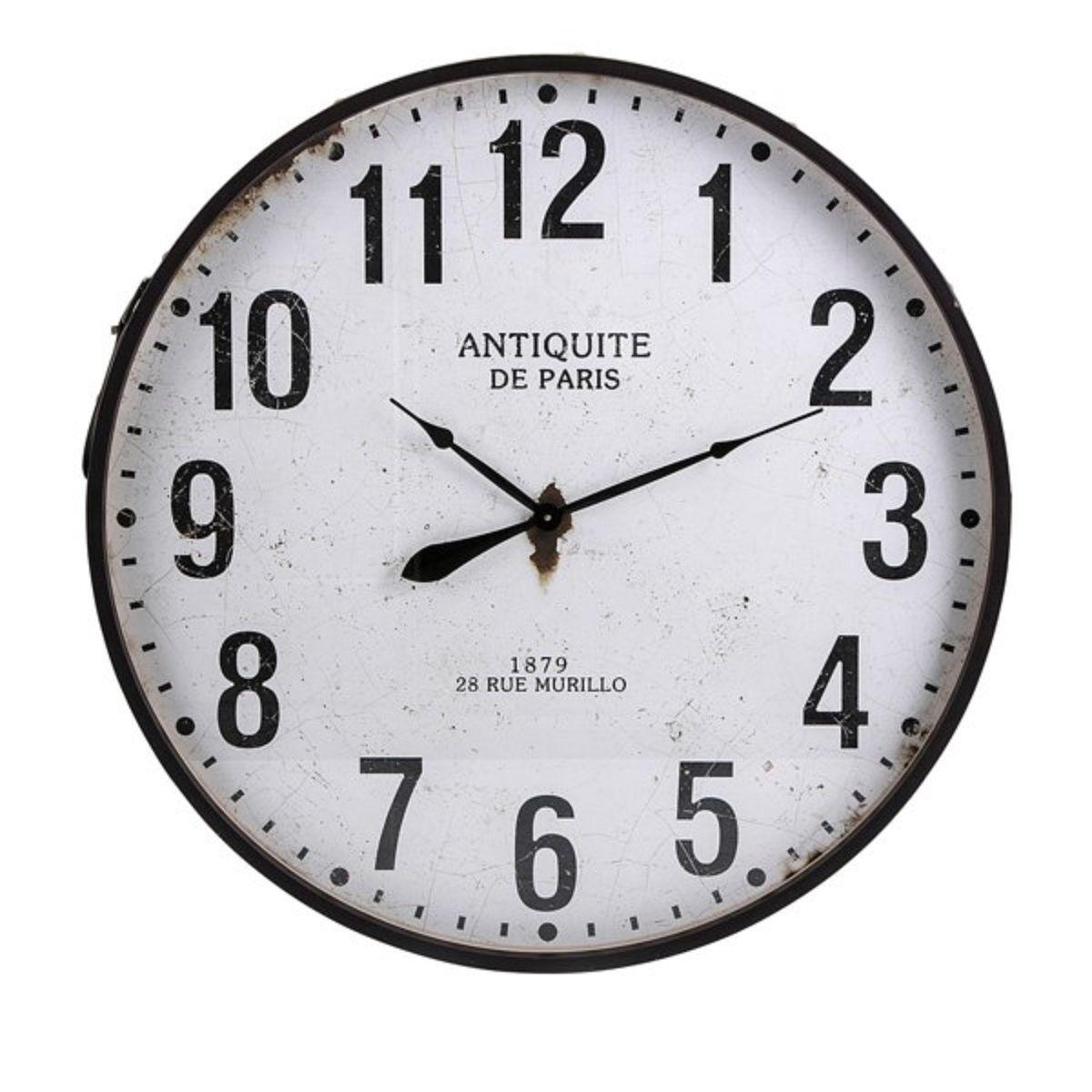 43 25 Black And White Lexington Wall Clock Oversized Wall Clock Wall Clock Round Wall Clocks